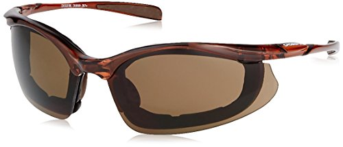 Crossfire Concept Glasses HD Anti-fog Brown Lens Crystal Brow Foam Lined Frame
