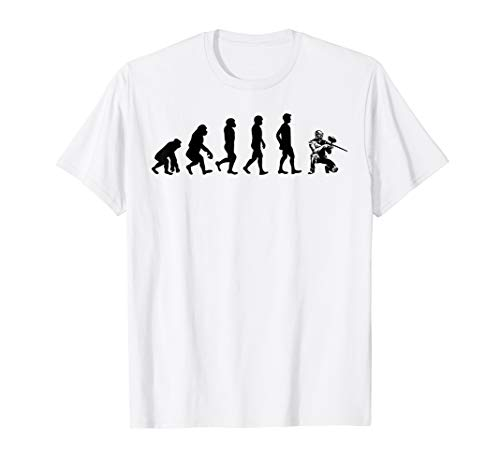 Evolution Of Paintball Tag Team Sport Men Gifts T-Shirt