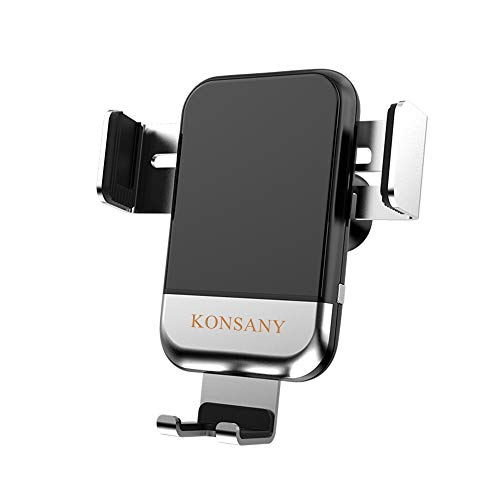 KONSANY Qi Fast Wireless Car Charger, Electric Auto-Clamping Air Vent Qi Wireless Charger Car Mount, 7.5W Compatible iPhone Xs XR X 8 8Plus,10W Compatible Samsung Galaxy Note9 Note8 S10 S10 S9 S9 S8