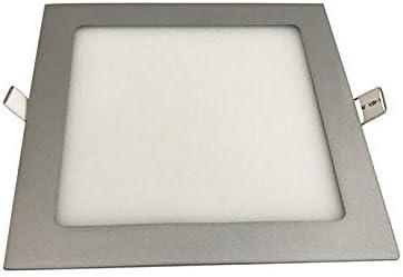 Iglux Downlight EXTRAFINO EMPOTRABLE Cuadrado LS-102218-FP 18W 6000/ºK Plata 1700 LUMENES 225X225X19 MM