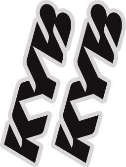 Factory Effex 10-44002 Black 'KYB' Universal Swing Arm Sticker (Swing Arm Stickers)