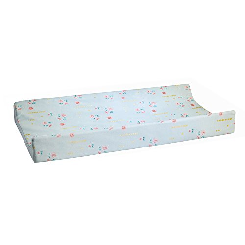 Glenna Jean Cottage Collection Audrey Changing Pad Cover, Aqua Floral