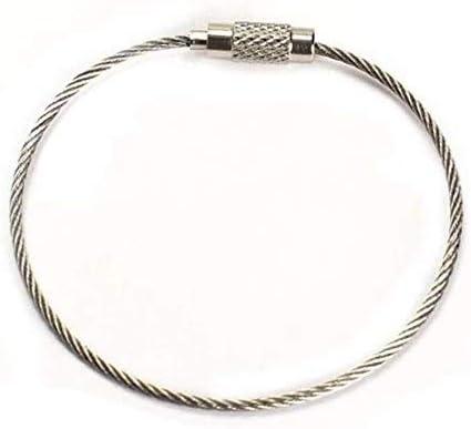 Martini Racing/® Llavero con cord/ón de seguridad y cierre de seguridad con anilla extra con cierre de rosca