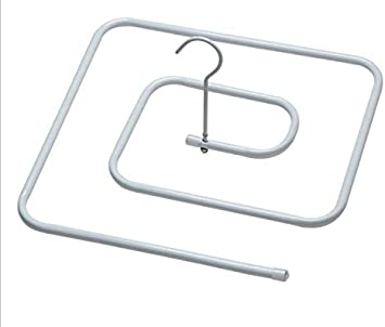 Stainless Steel Balcony Outdoor Spiral Shaped Drying Rack Quilt Sheet Hanger