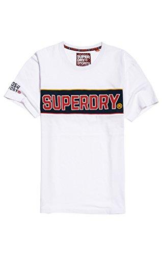 Bianco Superdry 01c Homme T Retrostripeboxfittee shirt optic 4vxvwISqO