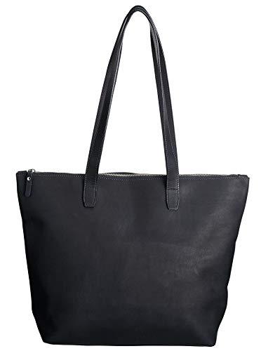- SLATE COLLECTION Ballard Tote, Full-grain Leather (Midnight)