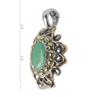 Carolyn Pollack Sterling Silver Green Turquoise Pendant Enhancer by Carolyn Pollack (Image #1)