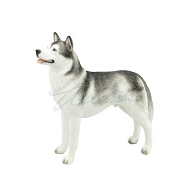 Siberian Husky Puppy Dog Animal Figurine 76376 (Figurine Siberian Husky White)