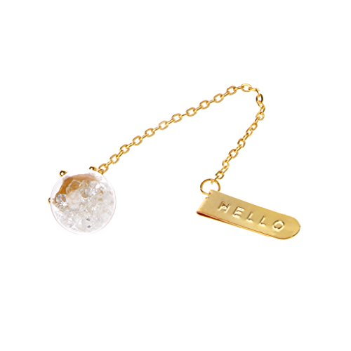 Qhufnng Elegant Metal Crystal Bookmark Gold Chain Pendant Book Markers Creative - Bookmark Crystal
