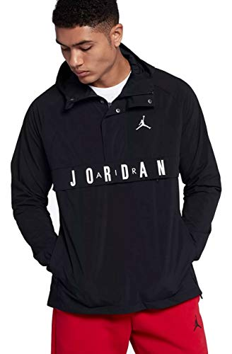 Nike Air Jordan Wings Anorak Pullover Wind Jacket Size XL Black