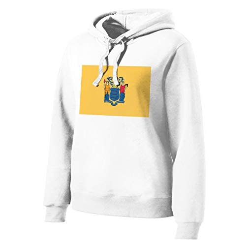 Fjfj3iii90opf New Jersey Flag Woman Fashion Drawstring Hooded S White ()