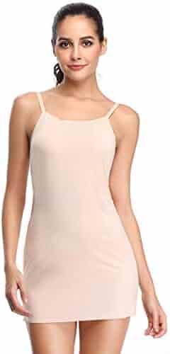 84ccb397762 Womens Full Slips for Under Dresses Spaghetti Straps Long Cami Slip Basic Camisole  Slip Dress
