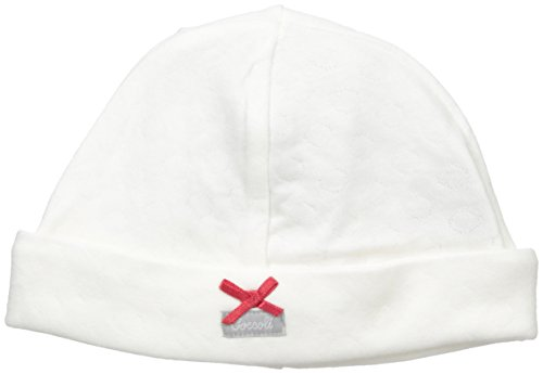 Double Knit Cotton Cap with Bow, Almond 3/6 Months ()