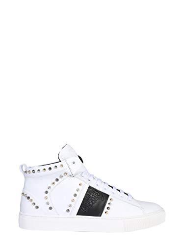 Collection Blanc Cuir Baskets V900716vm00393v874 Versace Homme dqFS6dT