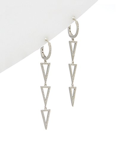 Effy Geo Collection 0.55 ct. tw. Diamond Drop Earrings in 14K White Gold ()