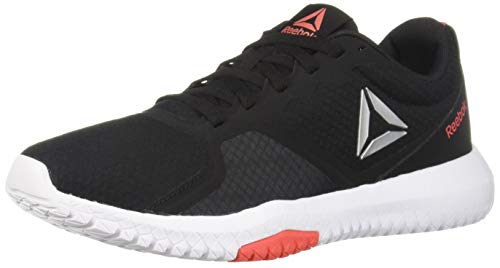 Reebok Women's Flexagon Force Cross Trainer, Black/White/Bright Rose, 9.5 M ()