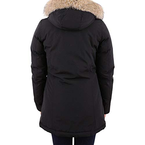 Donna Woolrich wwcps1446 In Parka Arctic Black Cotone Misto Cod 0rrpXqw