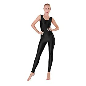 Kepblom Womens Sleeveless Tank One Piece Unitard Jumpsuit Bodysuit For Gymnastics Dance Costume