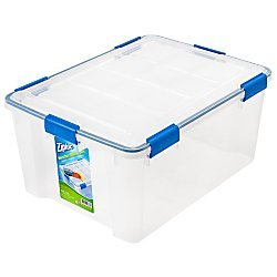 - Ziploc Weathertight Storage Box, 60-Quart, 11 1/5