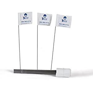 Electric Dog Fence Boundary Flags for Visual Aid During Underground Dog Fence Training – 50 Flags by eXtreme Dog Fence