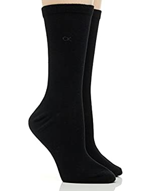 Women's Signature Flat Knit Crew Socks - 2 Pack