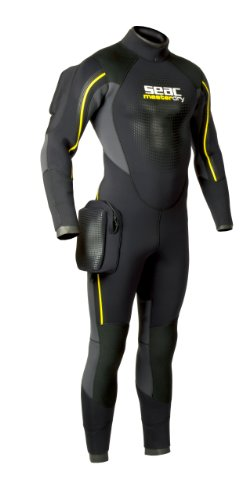 Semi Dry Full Wetsuit (SEAC Men's MasterDry 7 mm Semi-Dry Suit, 3X-Large)