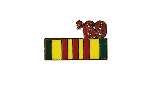Vietnam Veteran 1969 Ribbon Lapel Hat Pin Marines Army Navy Air Force PPM797