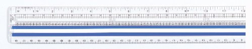 Westcott Data Processing Magnifying Ruler, 12-Inches, Clear (14125)