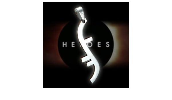 Heroes Godsend Helix Symbole Collier En Argent Plaqu Amazon