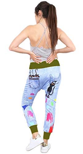 si moda Pantalón - Tiro Caído - para Mujer Caqui