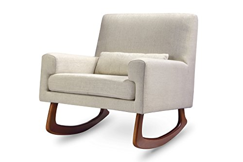 Nursery Works Sleepytime Rocker, Oatmeal Weave with Walnut Legs by Nursery Works