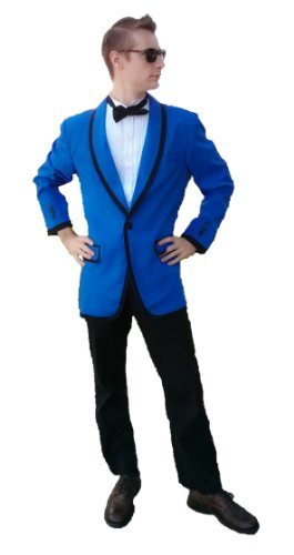 Blue Costume Tuxedo Jacket K-Pop Star