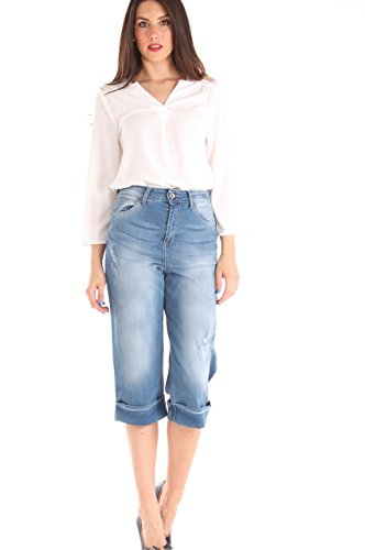 Cropped di Donna Denim Stretch Usure Cotone Con In Jeans Key 4fBqnwCxPq