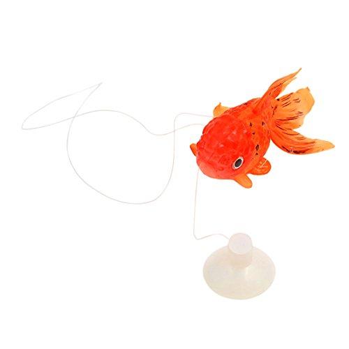 uxcell Aqua Landscape 1 PCS Fish Tank Orange Goldfish Ornament 8cm Long