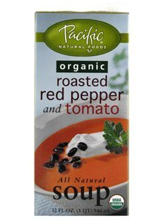 Pacific Organic Roasted Red Pepper and Tomato All Natural Soup (1 x 32 FL OZ) by Pacific