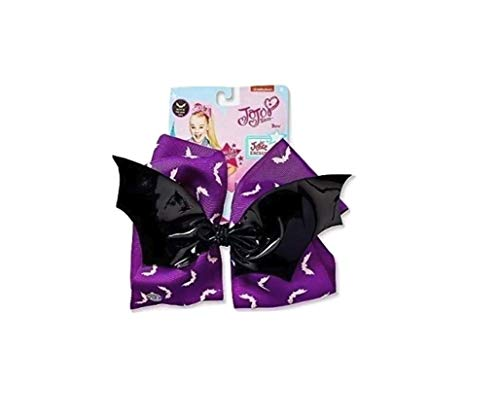 JoJo Siwa Spooky Black Bat Halloween Costume Hair Bow, purple