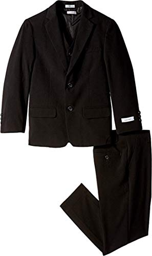 (Calvin Klein Kids Boy's Bi-Stretch Suit (Big Kids) Black Youth 8)