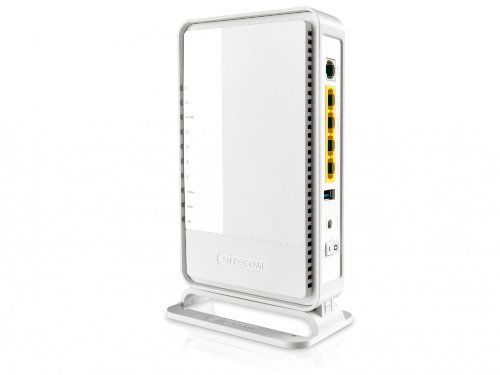 38 opinioni per Sitecom N300 Wi-Fi Gigabit Modem/Router X4, USB, Sitecom Cloud Security, Bianco
