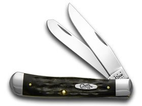 CASE XX Jigged Genuine Buffalo Horn Trapper Pocket Knife (Horn Trapper)