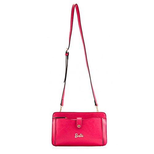 Clutch body Multi Cross Retro Portable Barbie BBFB211 rose Use Handbag Bag standard Fashion xpw08tYtq6