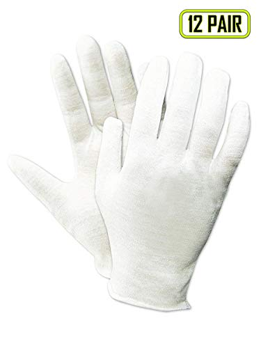 - Magid Safety TouchMaster 440J Inspection Gloves   100% Cotton Medium Weight Ambidextrous Lisle Inspection Gloves - - Reversible, White, XL (12 Pairs)