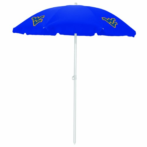 PICNIC TIME NCAA West Virginia Mountaineers Portable Sunshade Umbrella