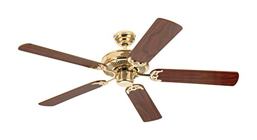 (Westinghouse 78021 52-Inch Contractor's Choice Ceiling Fan, Polished Brass )