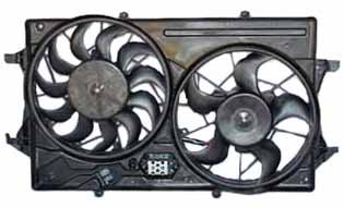 TYC 621230 Ford Focus Replacement Radiator/Condenser Cooling Fan Assembly (Focus 2003 Cooling Fan Ford)