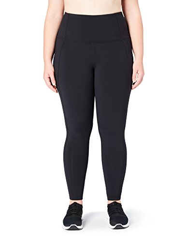 Core 10 Women's Onstride Run Plus Size High Waist Tight, Black, 1X