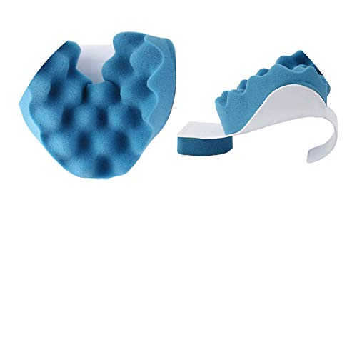 Travel Neck Pillow Therapeutic Support Tension Relief Neck Shoulder Relaxer Massager Pillow Sponge (Marshall Plastic Jacket)