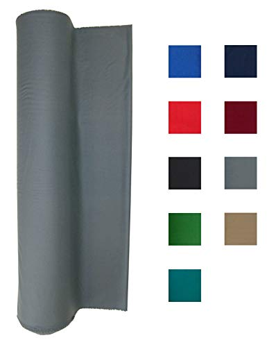 Performance Grade Pool Table Felt - Billiard Cloth - for an 8 Foot Table Light Gray