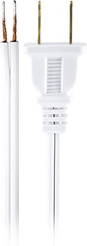 - GE Lamp Cord Set with Molded Plug, 8-Foot, White 54475