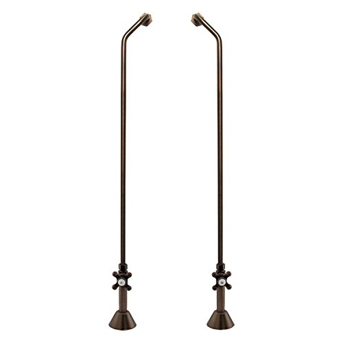 Naiture Double Offset Tub Supplies With Cross Handle Valves For Copper Pipe in Oil Rubbed Bronze Finish ()