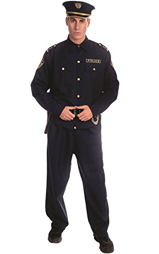 Dress Up America Adult Police Officer Costume Set - Small,Black,Small (33